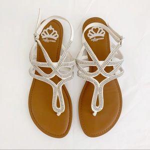 Fergalicious Shimmer2 Sandal White Bling Size 8.5